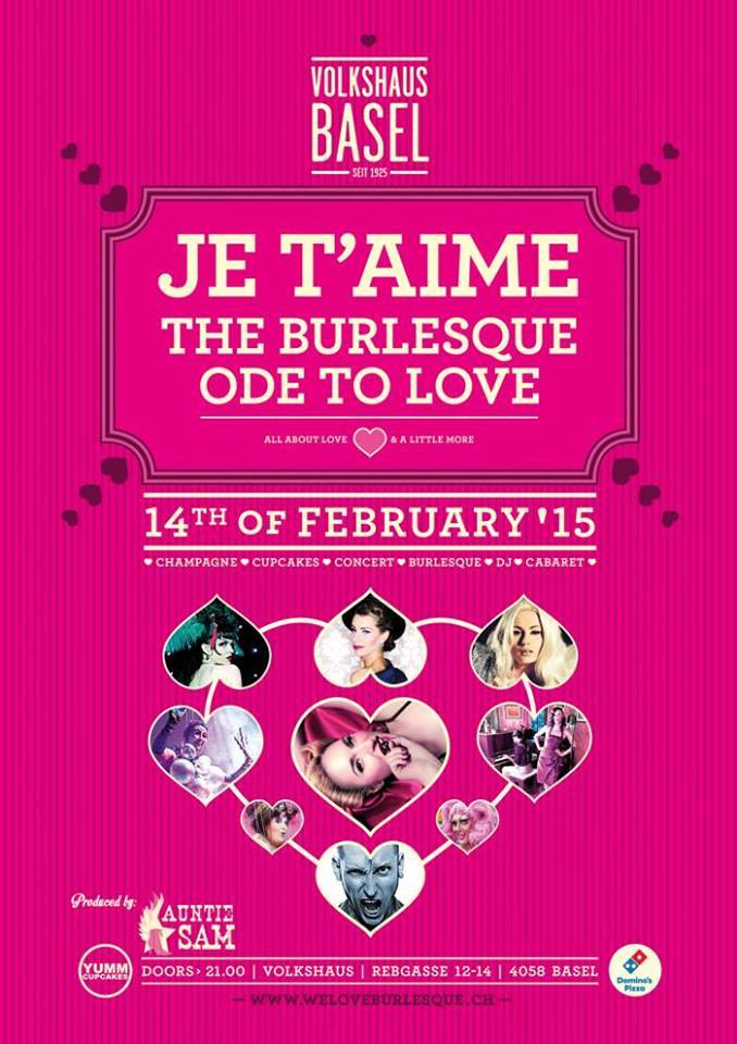 Burlesque show taking place February 14th 2015
